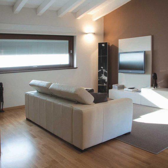 mobili soggiorno realizzati su misura appartamento privato