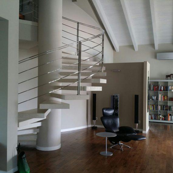 Progettazione e realizzazione area living abitazione privata interior design Celano E