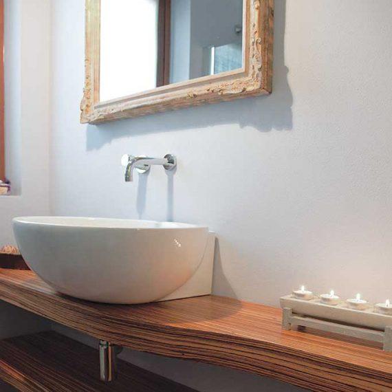 Mobile bagno impiallacciato legno zebrano